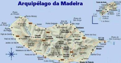 O Arquipélago da Madeira em pleno oceano Atlântico