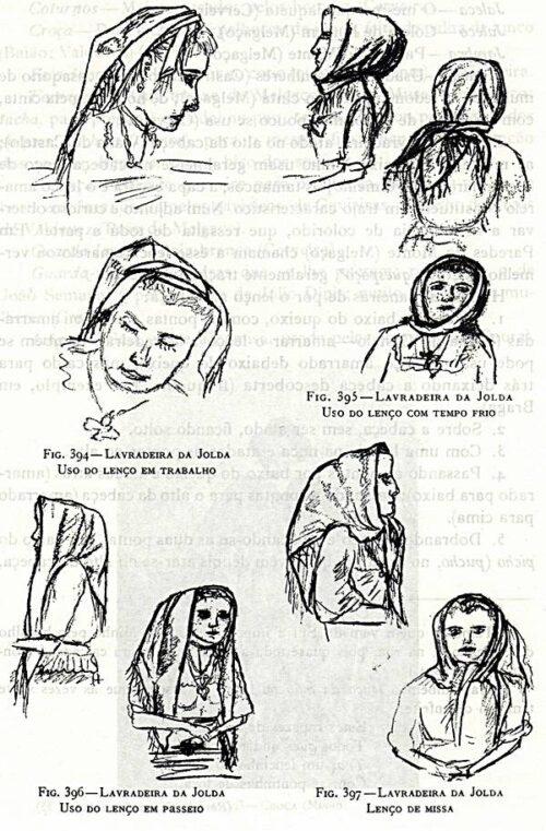 Lavradeira da Jolda - Maneiras de pôr o lenço na cabeça