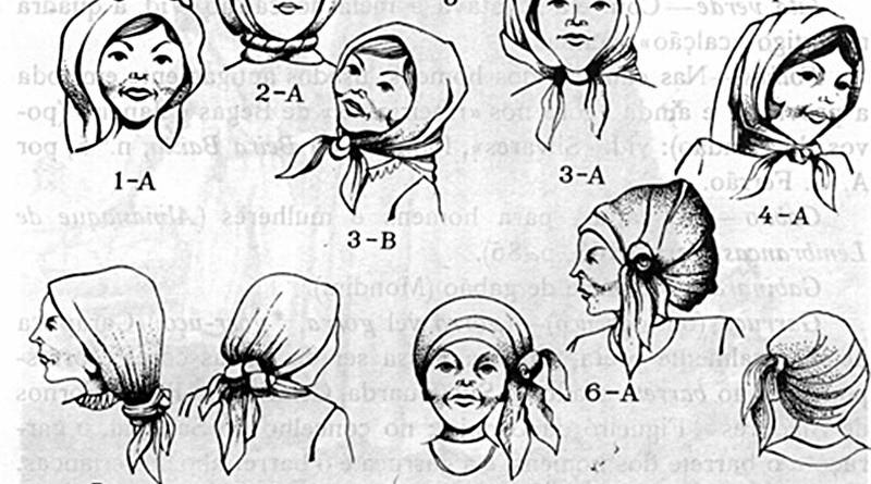 Trajos tradicionais: o lenço da cabeça