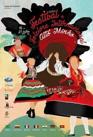 Cartaz do Festival Internacional de Folclore do Alto Minho
