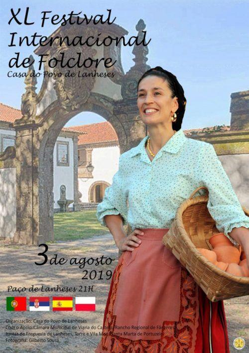 Cartaz de divulgação do 40º Festival Internacional de Folclore - Casa do Povo de Lanheses