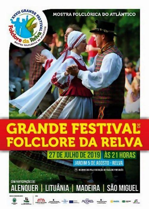 Cartaz de divulgação do Grande Festival de Folclore da Relva 2019