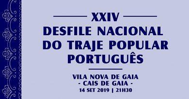 Desfile Nacional do Traje Popular promovido pela Federação do Folclore Português, em setembro de 2019