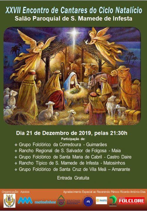 Cartaz do XXVII Encontro de Cantares do Ciclo Natalício - S. Mamede de Infesta