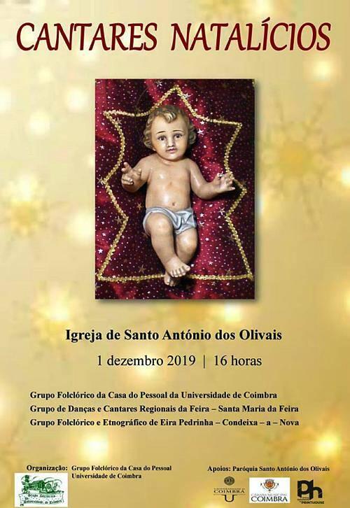 Cartaz de divulgação do Encontro de Cantares Natalícios - Santo António dos Olivais