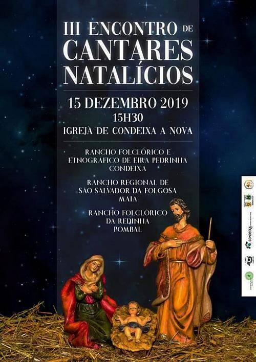 Cartaz de divulgação do III Encontro de Cantares Natalícios em Condeixa-a-Nova