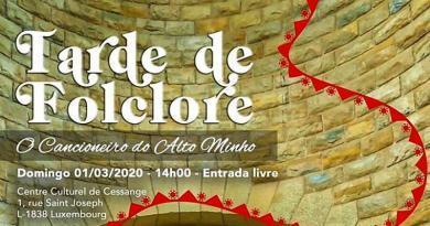 Tarde de Folclore no Luxemburgo - Março 2020