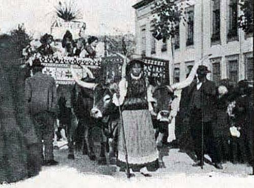 Parada agrícola e Cortejo na Póvoa de Varzim, em 1919.