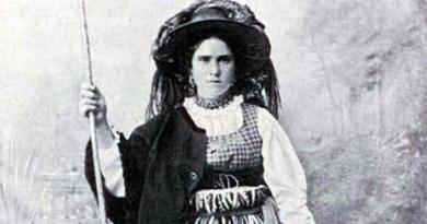 Trajes do povo: Traje de pastora no Minho em 1913