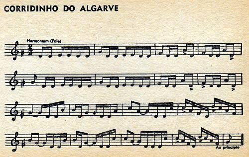 Partitura de Corridinho Algarvio