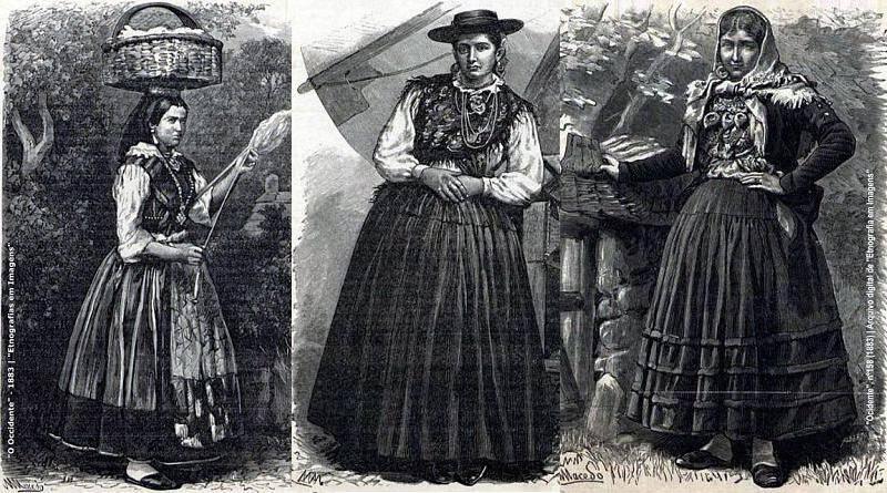 Trajes de mulher do norte de Portugal (séc.XIX)