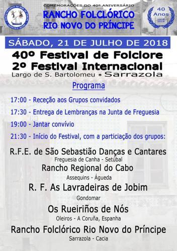 40º Festival de Folclore e 2º Festival Internacional - Sarranzola