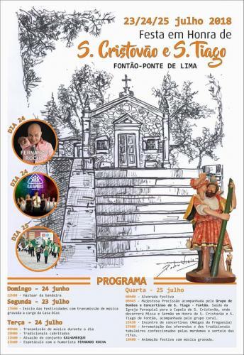 Festa em honra de S. Cristóvão e S. Tiago - Fontão - Ponte de Lima