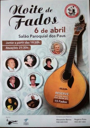 Noite de Fados - Salão Paroquial de Paus